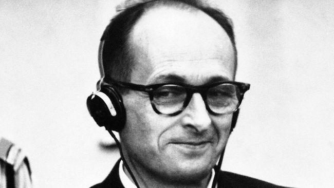 Eichmann lors de son procès en 1961
