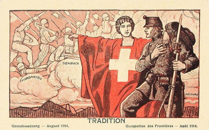allégorie historique exalte le patriotisme helvétique en actualisant dans le présent les exploits du passé