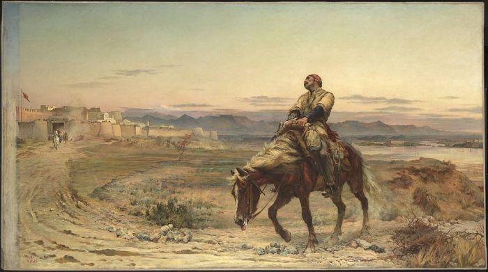 L'arrivée du Dr Brydon à Jalalabad. Portrait réalisé par Elizabeth Butler