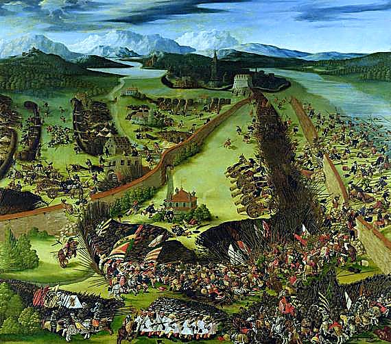 La bataille de Pavie par le peintre Ruprecht Heller