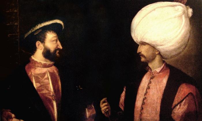 Rencontre au sommet. Cette peinture du Titien représente François Ier et Soliman le Magnifique. Pourtant les deux souverains ne se sont jamais rencontrés.