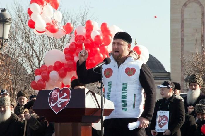 Ramzan Kadyrov à la tribune  @DR