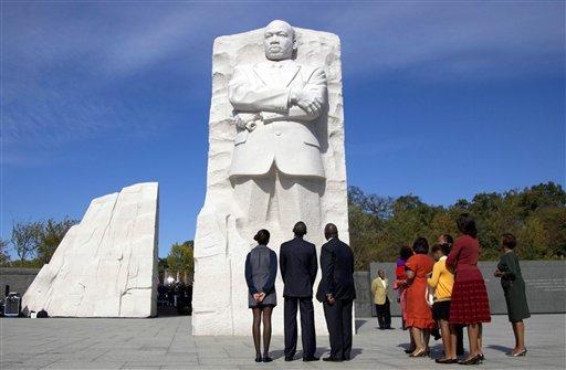 Le Président Obama en visite au Mémorial consacré à Martin Luther King